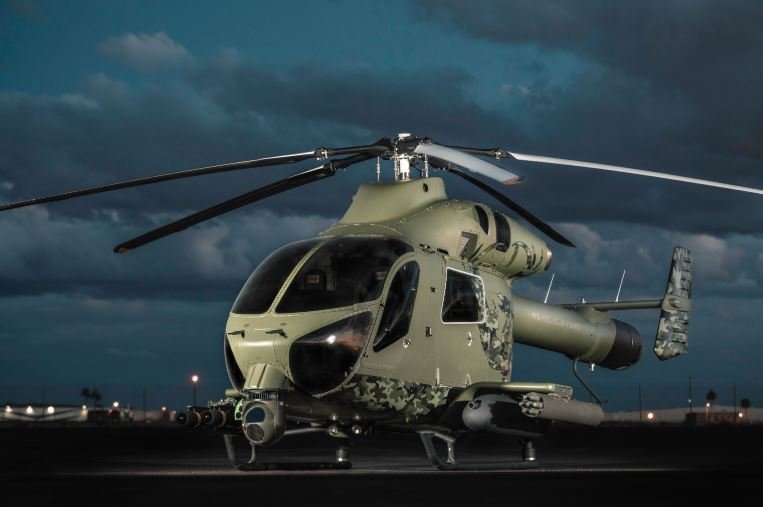 MD Helicopters MD 969 Attack Helicopter with Common Launch Tube (CLT)