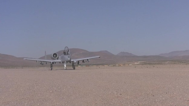 A-10 Thunderbolts perform landing on unpaved strips