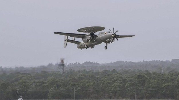 In December 2018, the Japan Air Self Defense Force performed training flights on the E-2D Advanced Hawkeye. The first E-2D was delivered to JASDF in March 2019.
