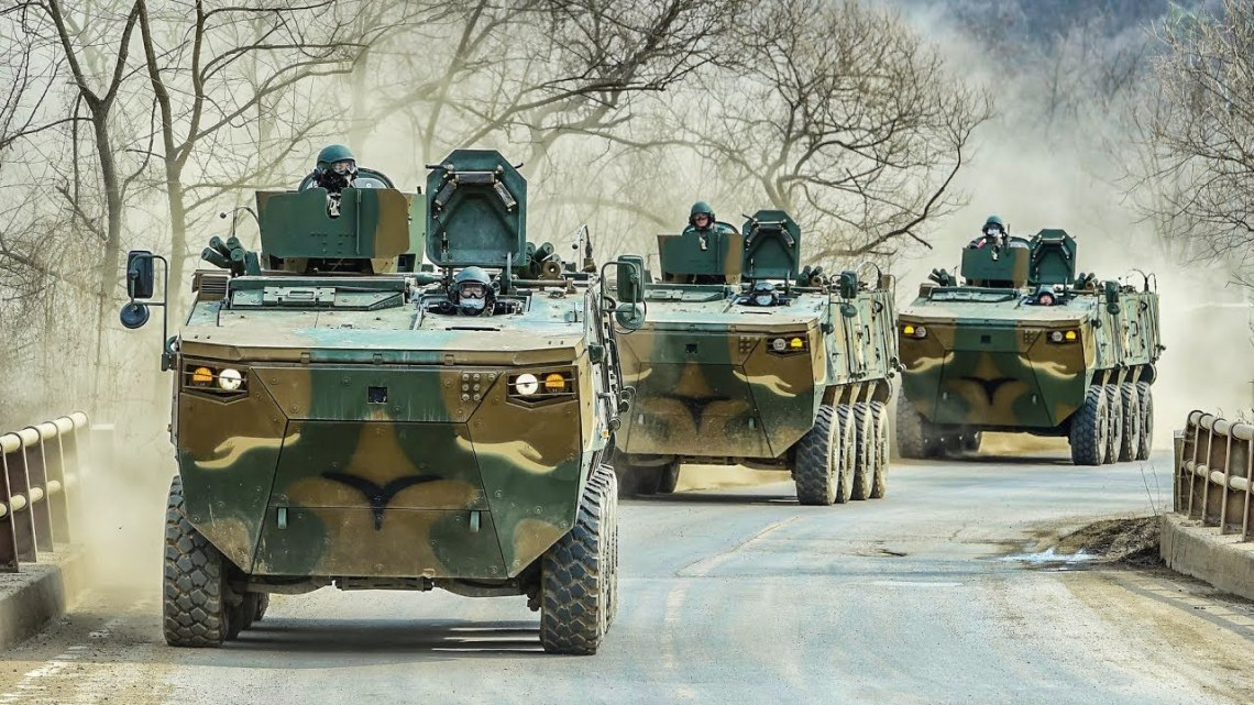 Hyundai Rotem K808 wheeled armoured combat vehicles