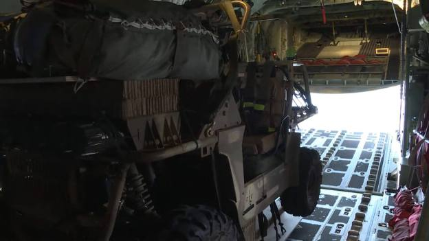 Royal Australian Air Force and Australian Army combine for US air drop