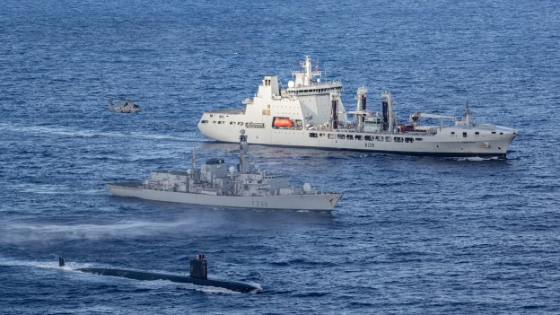 Royal Navy Experts Go On North Atlantic Sub Hunt