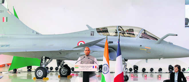 Three French Dassault Rafale fighter jets handed over to Indian Air Force