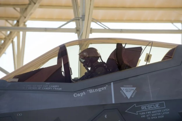 Four student pilots, two U.S and two Norwegian, are attending the eight-month first-ever allied F-35 B-course, preparing for Red Flag at Nellis AFB, Nev.