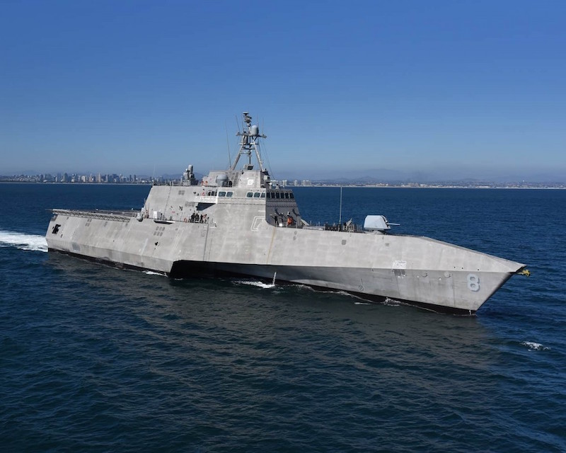 The Independence-class Littoral Combat Ship the USS Montgomery (LCS 8) was designed and constructed by Austal at the company's USA shipyard in Mobile, Alabama