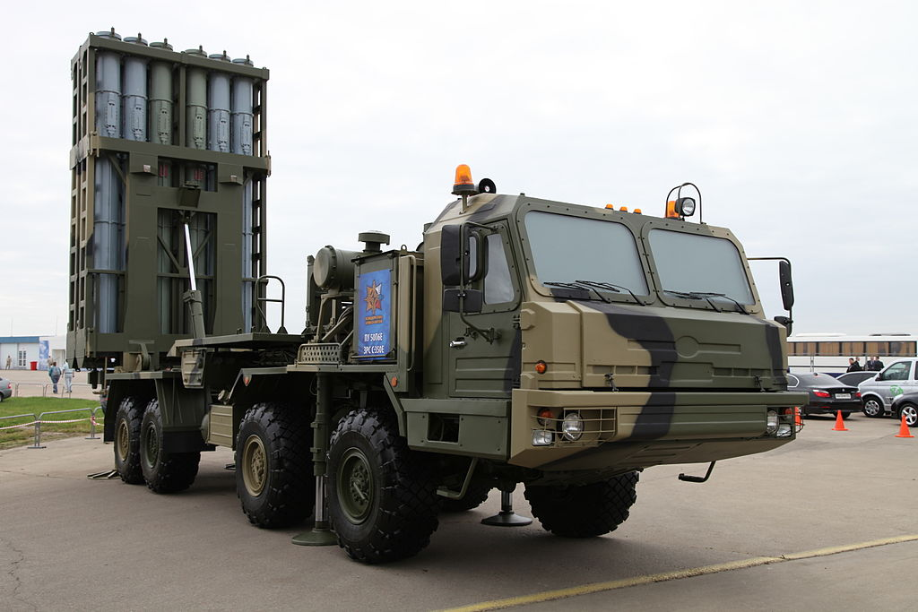 S-350E Vityaz air-defense system - 50P6E transporter erector launcher