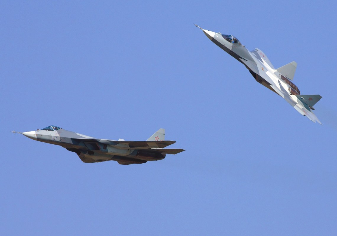 Sukhoi Su-57 stealth single-seat multirole fifth-generation jet fighter (NATO reporting name: Felon)