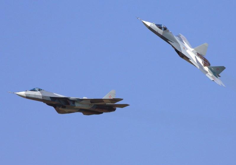 Sukhoi Su-57 stealth single-seat multirole fifth-generation jet fighter (NATO reporting name: Felon)