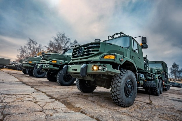 ZETROS 3643 tractor trucks with trailers, manufactured by German company Daimler AG