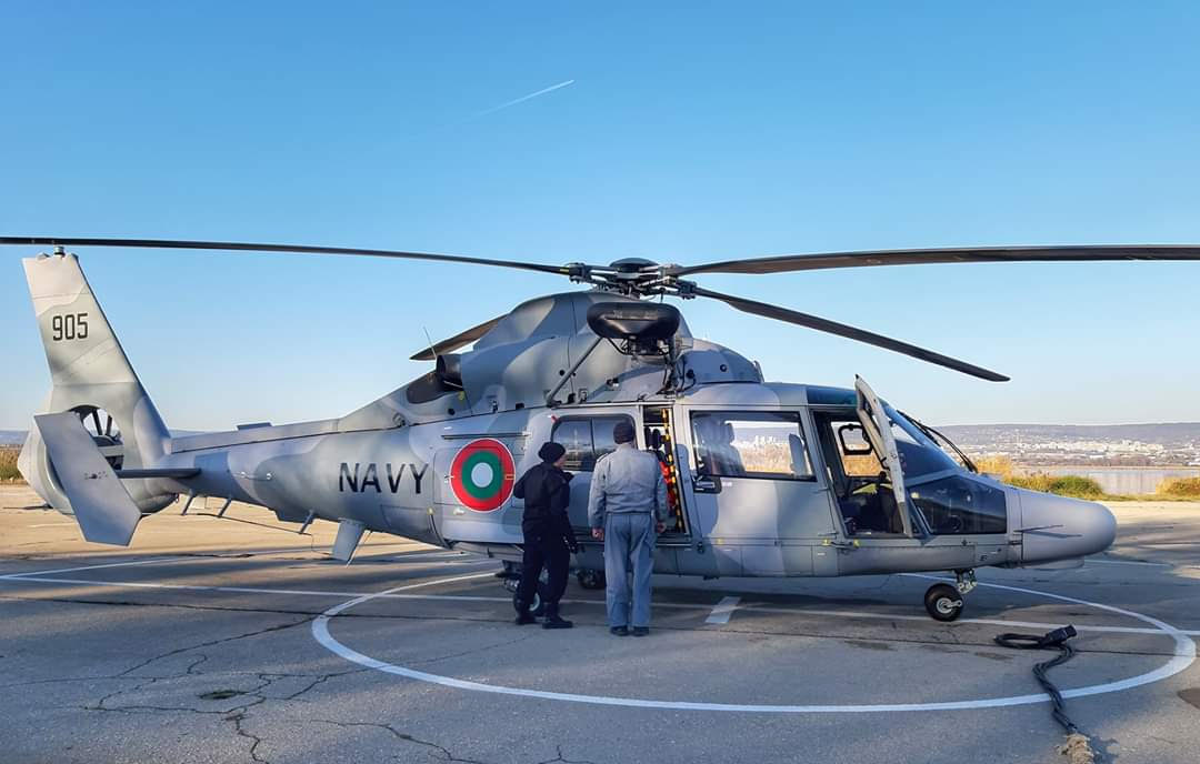 Bulgarian Navy AS365N3+ Dauphin Helicopter