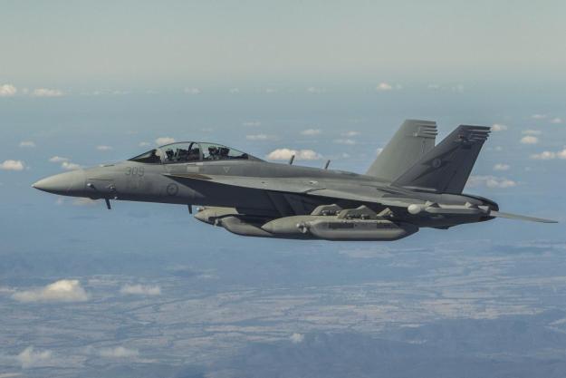 Royal Australian Air Force EA-18G Growler fighter jet