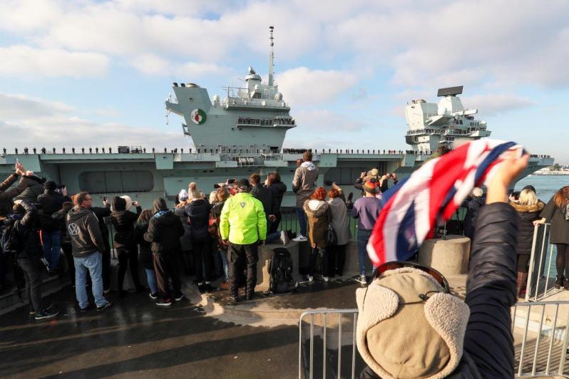 HMS Queen Elizabeth carrier strike