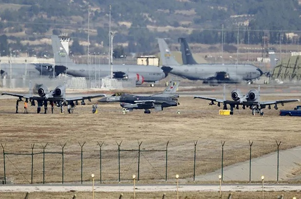 Incirlik Air Base is a Turkish air base of slightly more than 3320 ac (1335 ha), located in the İncirlik quarter of the city of Adana, Turkey.