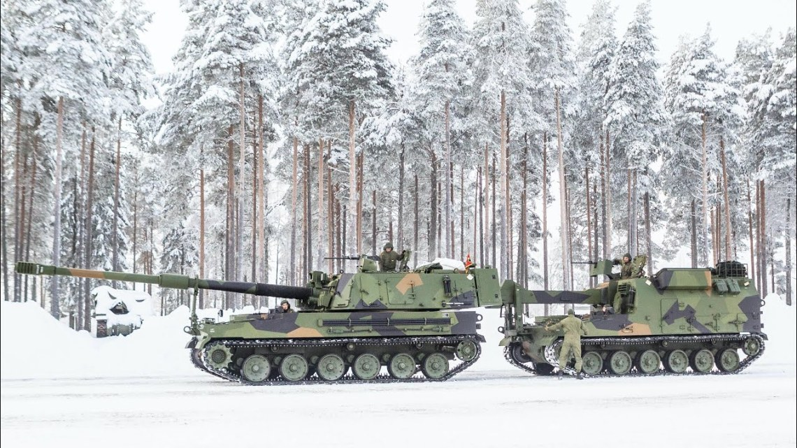 Norway K9 Vidar Self-Propelled Howtitzer and K10 Ammunition Resupply Vehicle