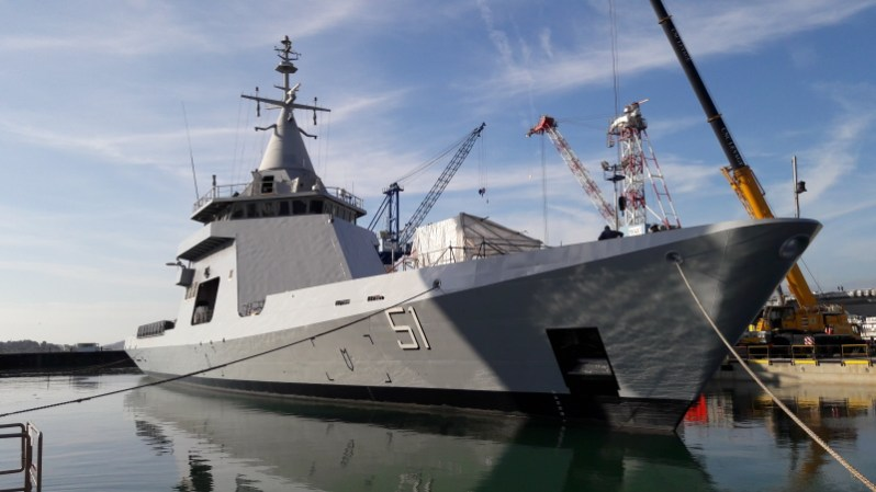 Developed by France's Naval Group on its own funds as an operational demonstrator, L'Adroit was graciously loaned to the French Navy, and subsequently sold to Argentina; it served as the basis for the Gowind-class of corvettes and OPVs.