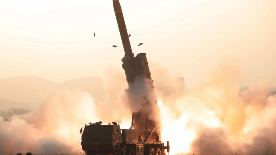 North Korea's super-large multiple rocket launchers test-fired on Oct. 31, 2019