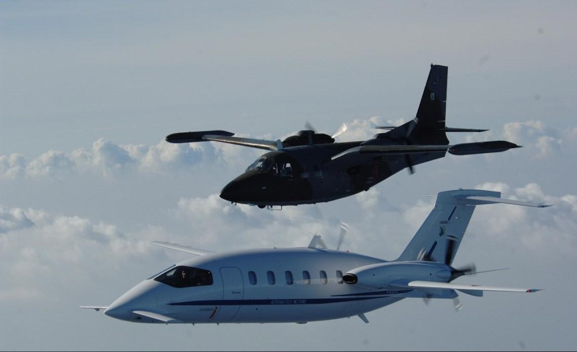 Piaggio Aerospace P.166 Portofino utility aircraft and P.180 Avanti transport aircraft