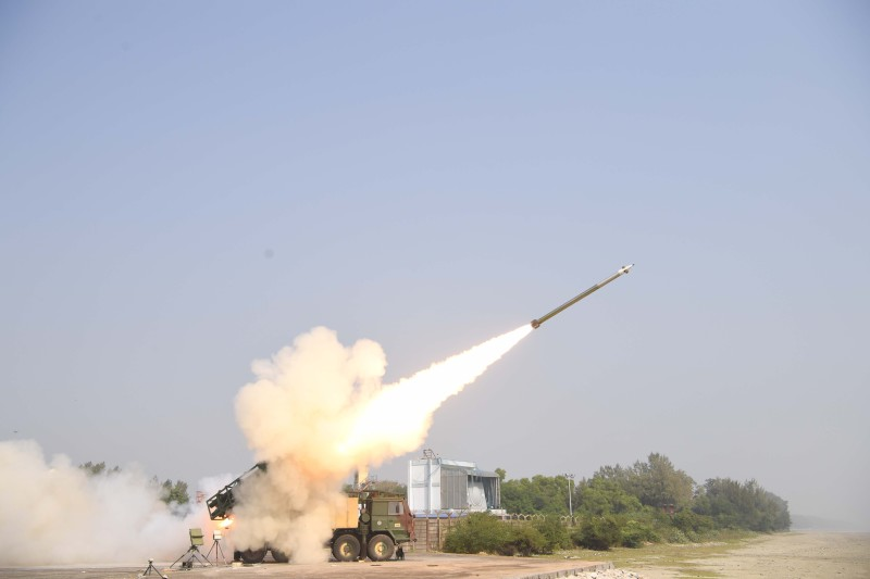 India's DRDO carried out test firings of its Pinaka 2 guided, long-range artillery rocket on Dec. 19 and Dec. 20, the latter including a salvo-launch.