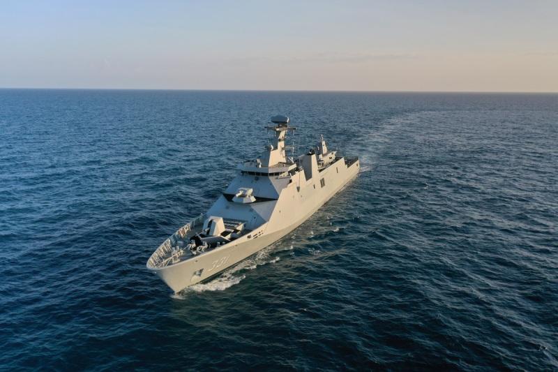 Raden Eddy Martadinata, the lead ship of Indonesia's SIGMA 10514 Perusak Kawal Rudal (PKR) class of guided missile frigates.