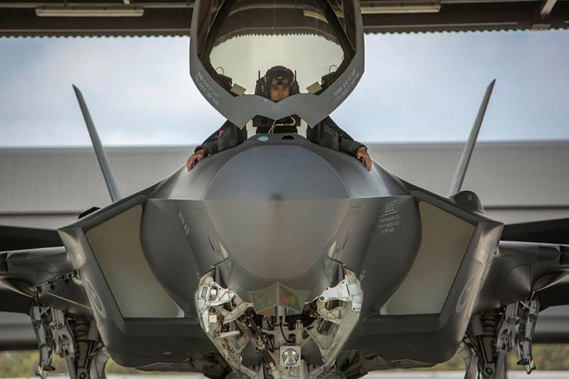 One of the latest F-35A Lightning II aircraft at RAAF Base Williamtown.