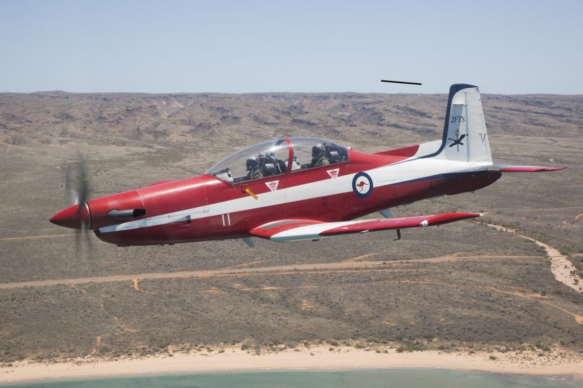 The PC-9/A is designed by Pilatus Switzerland and built under license by Hawker de Havilland in Sydney. It was introduced to the Royal Australian Air Force (RAAF) in 1987, with pilot training commencing in 1989.