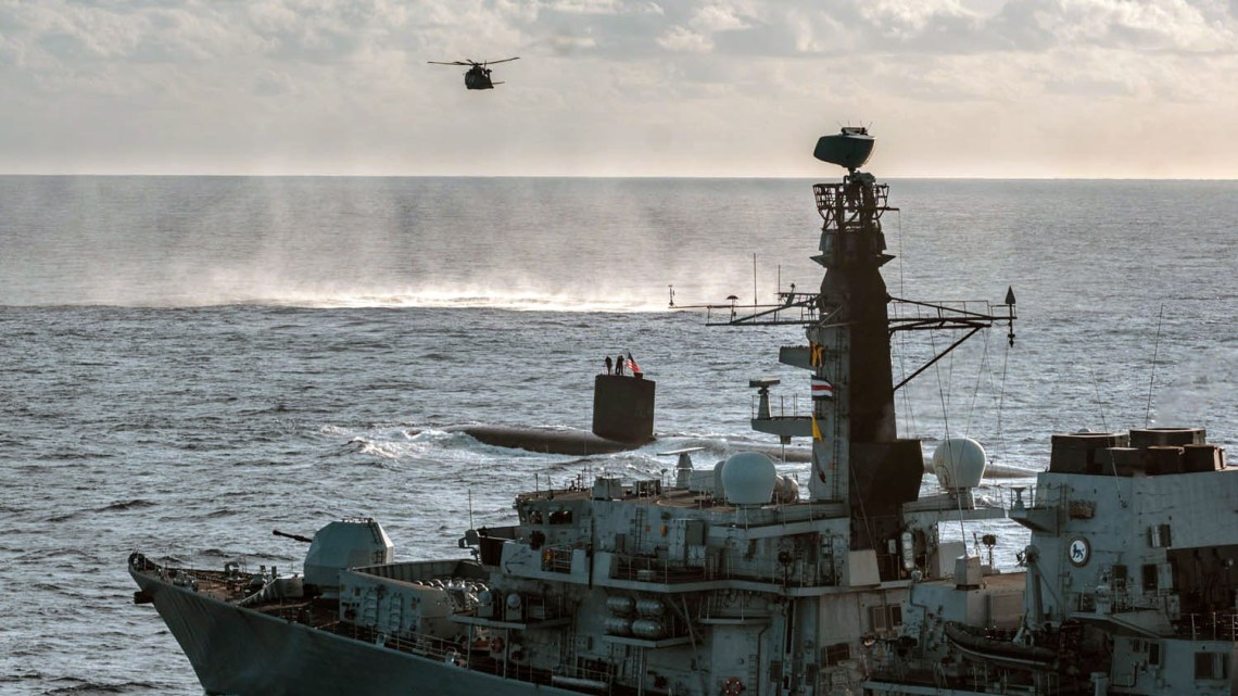 Merlin, Los Angeles class and HMS Northumberland.