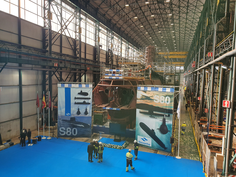 The pressure hull of the future Spanish Navy submarine S81 'Isaac Peral' was closed on Dec. 18 at Navantia's Cartagena shipyard.
