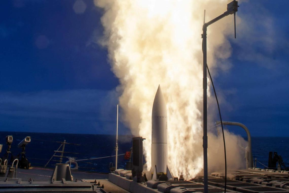 The USS John Paul Jones used a SM-6® missile to destroy a supersonic high altitude target drone in live fire tests June 18-20, 2014. (Photo: U.S. Navy)