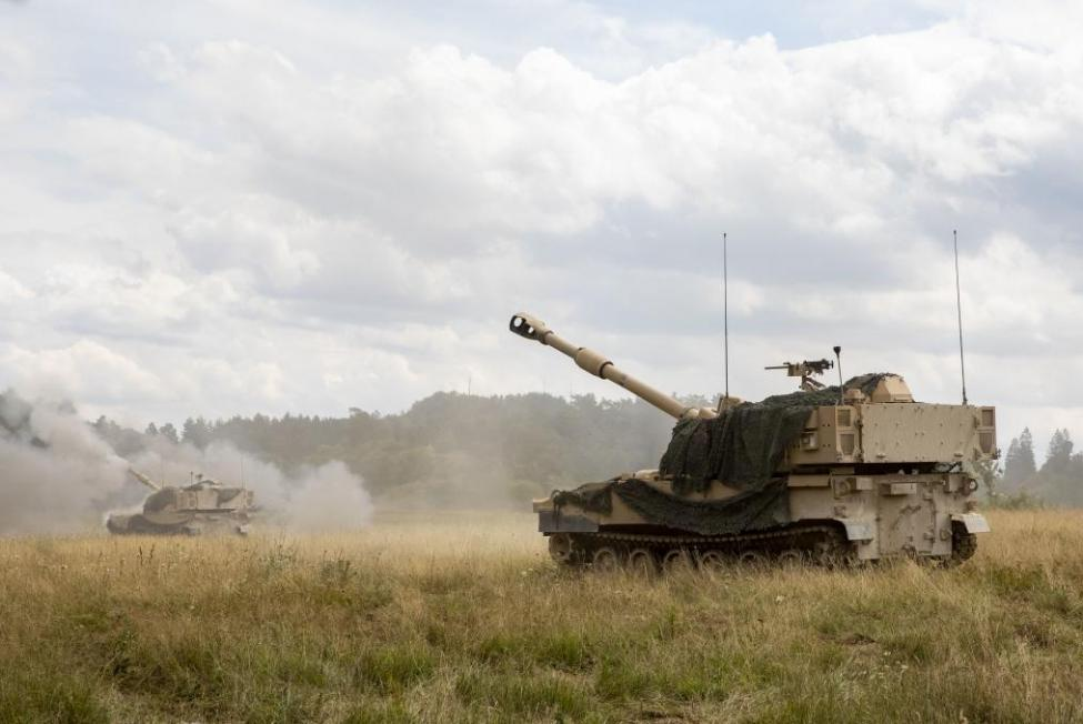 BAE Systems Land & Armaments received a $249.2 million modification Friday to provide ammunition and support for self-propelled Howitzer vehicles for the U.S. Army. Pictured here is an Army Paladin M109A7 Artillery Systems vehicle during a live fire exercise in August. Photo by Jeremiah Woods/U.S. Army