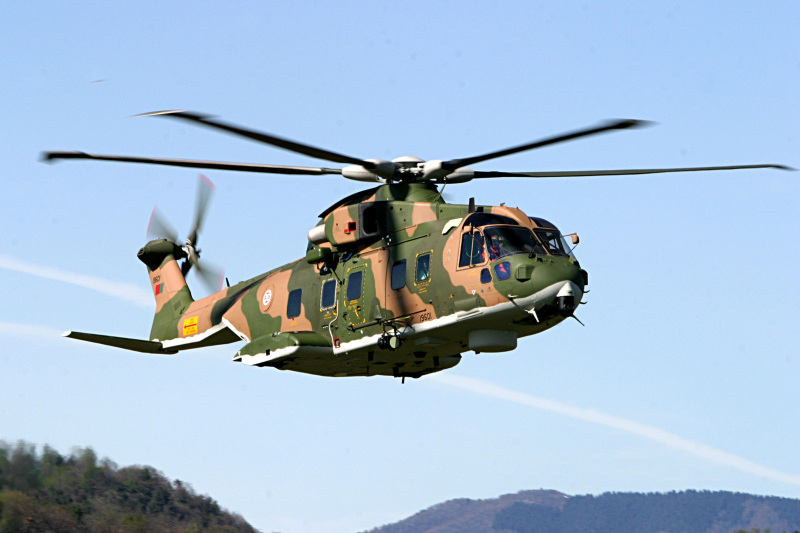 Portuguese Air Force AgustaWestland EH-101 Merlin long-range combat search and rescue helicopter