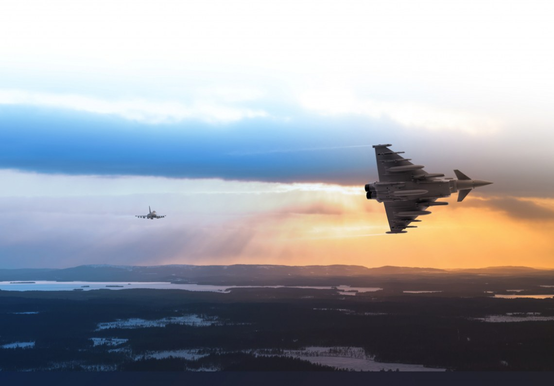 Cutting-edge Eurofighter Typhoon aircraft become  the first to take part in the 2020 HX Challenge – the Finnish Air Force's series of Flight Evaluation Trials.
