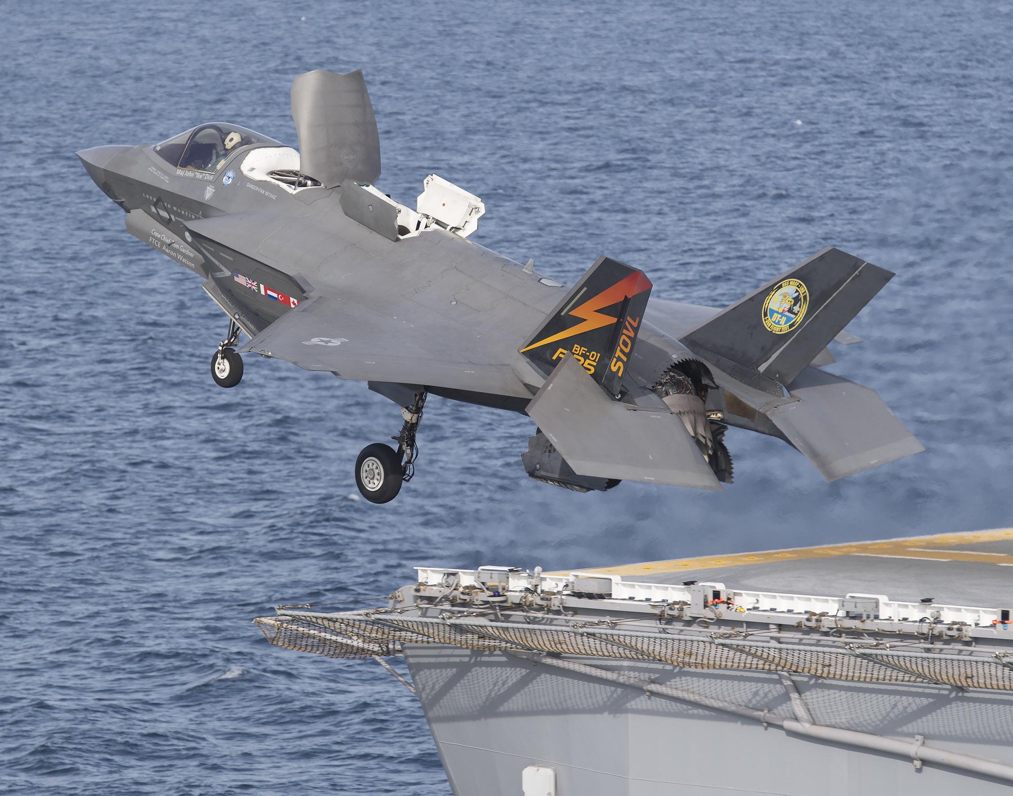 Lockheed-Martin F-35B On Board USS USS America (LHA-6) amphibious assault ship (Lockheed Martin Media)