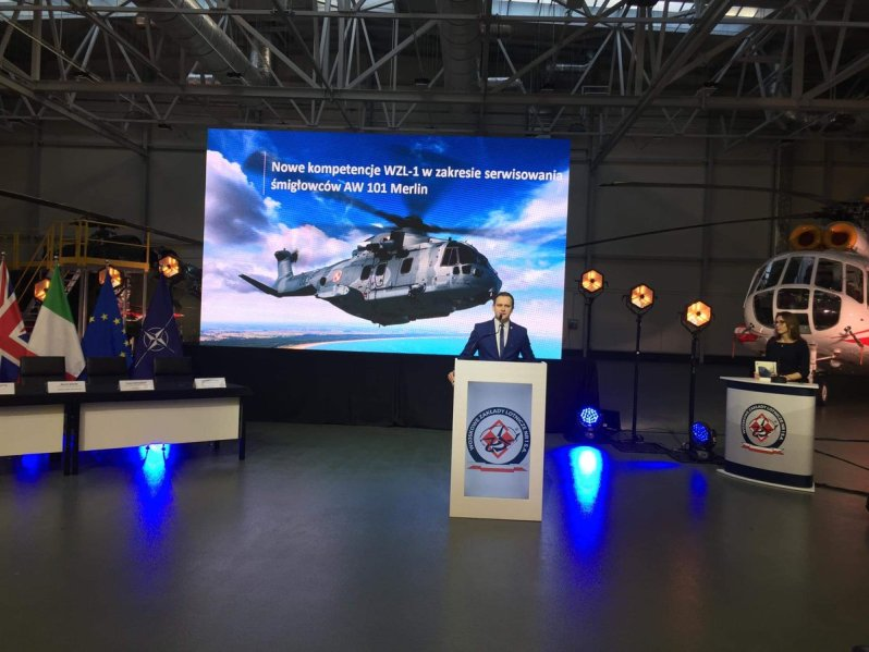 Wojskowe Zakłady Lotnicze No. 1 S.A. (WZL-1) will service AW101 Helicopters