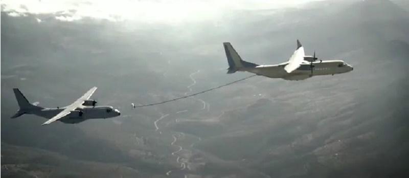 Airbus C295 air-to-air (AAR) tanker flight test