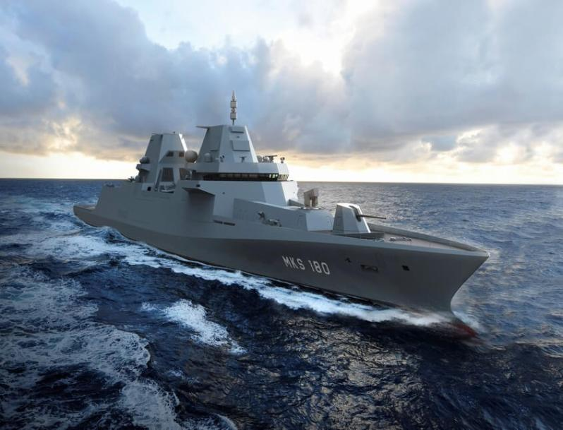 Damen and Blohm + Voss Selected for Construction of German MKS180 Frigates
