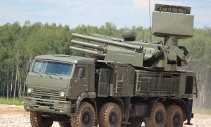 Pantsir self-propelled, medium-range surface-to-air missile systems