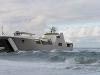 A computer-generated image of the Damen Landing Ship Transport 100