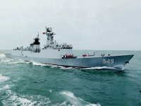Chinese People's Liberation Army Navy (PLAN) Changzhou (549) Type 054A frigate