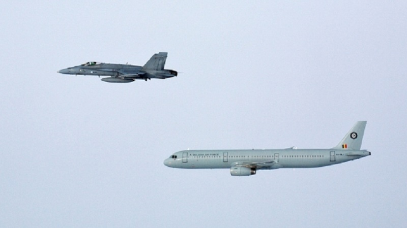 Finnish Air Force Trained Identification Procedures Above Baltic Sea