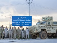 Jordan Armed Forces and U.S. National Guards Train on MRAP driving