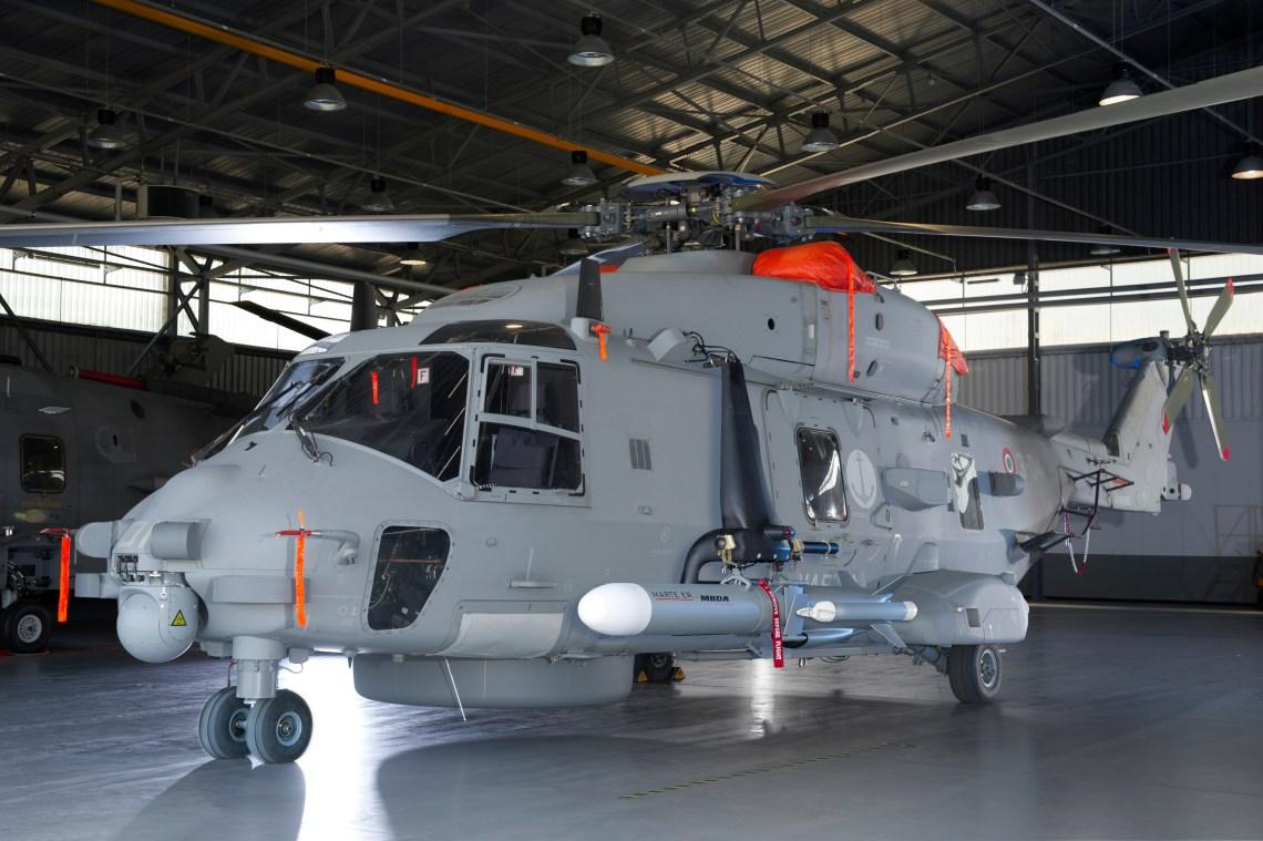 Marte ER Medium Range Lightweight Anti-Ship Missile System on NH90 helicopter