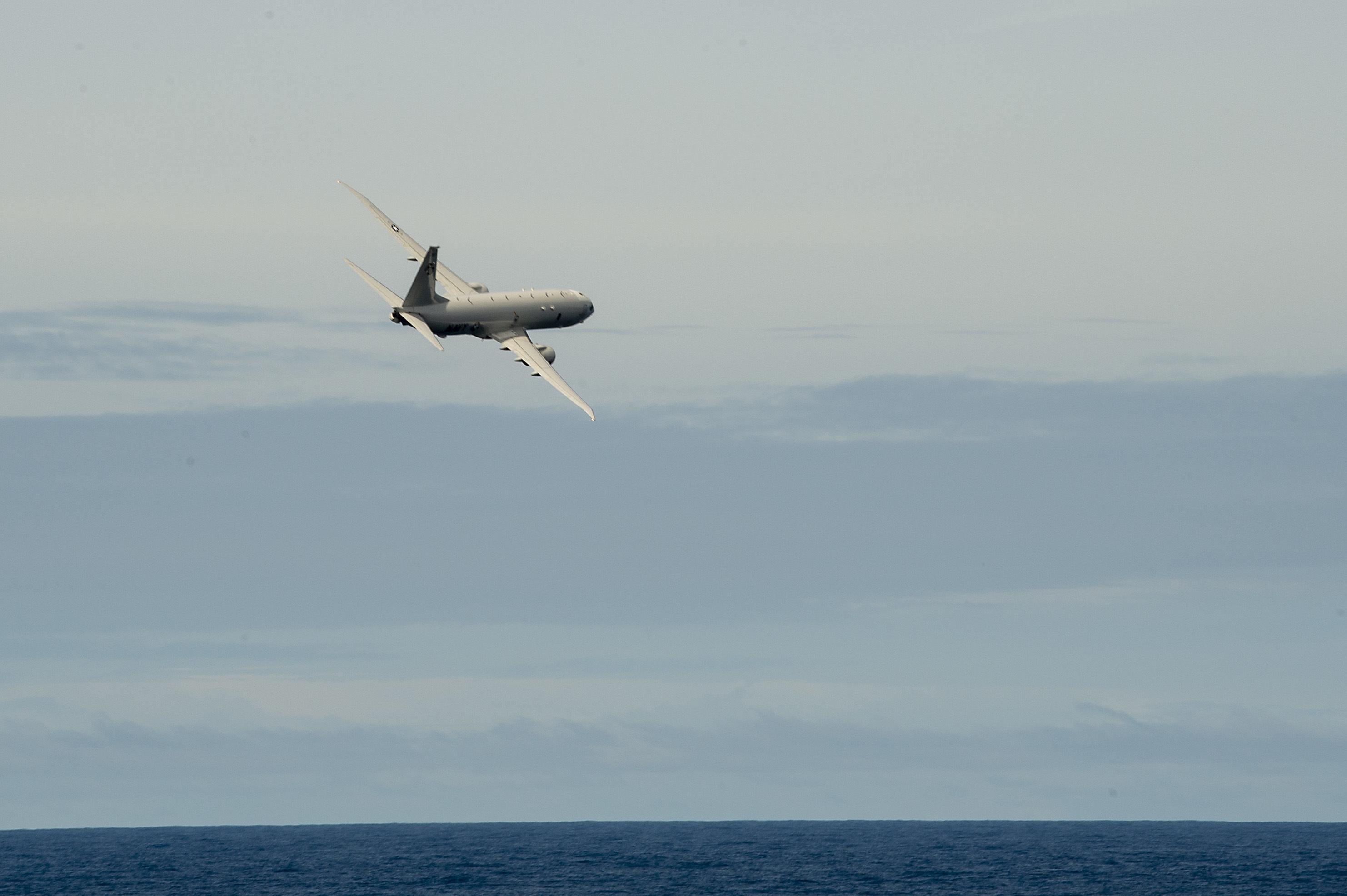 U.S. Navy P-8A Poseidon maritime patrol aircraft