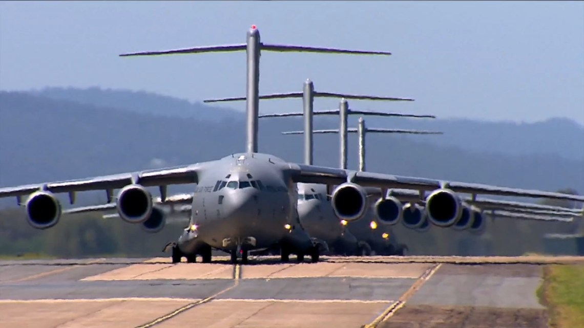 Royal Australian Air Force Boeing C-17 Globemaster heavy transport