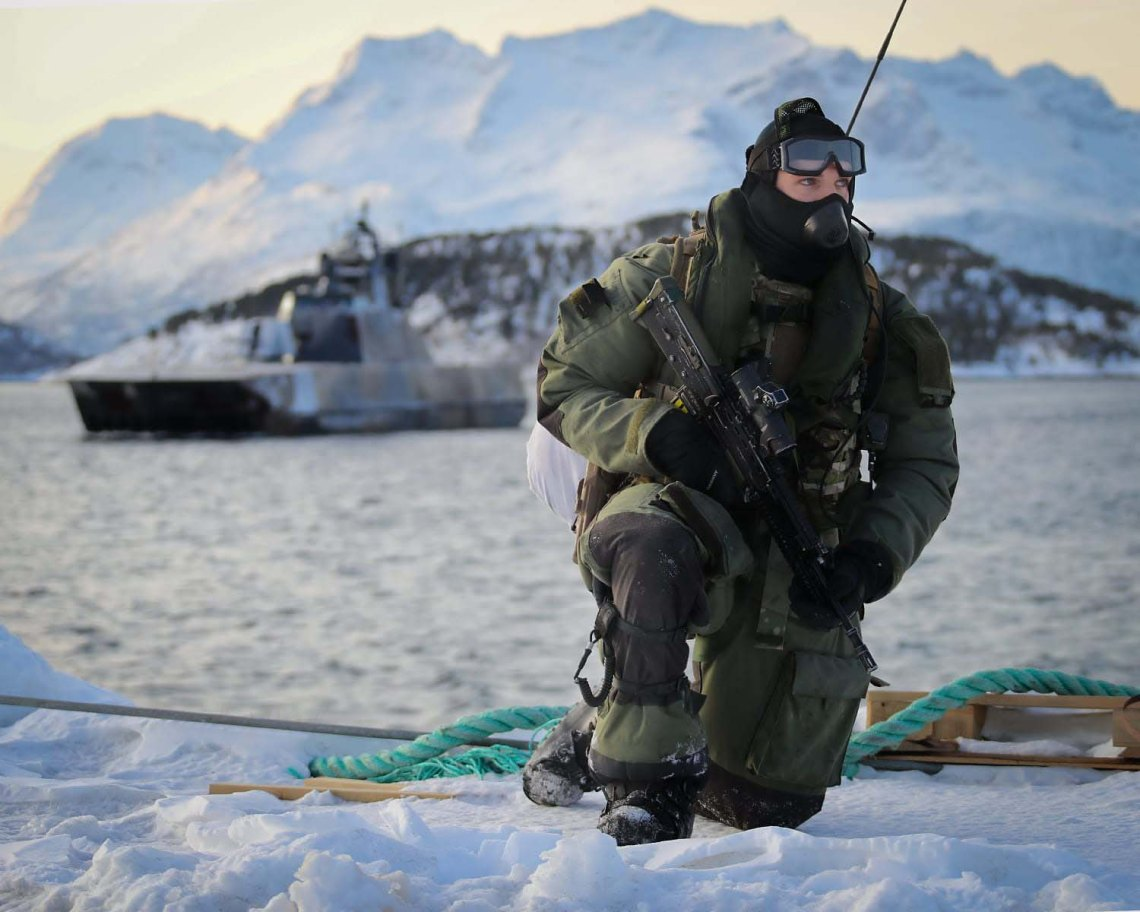 Royal Marine Commandos Raid with Norwegian Stealth Ship in Arctic