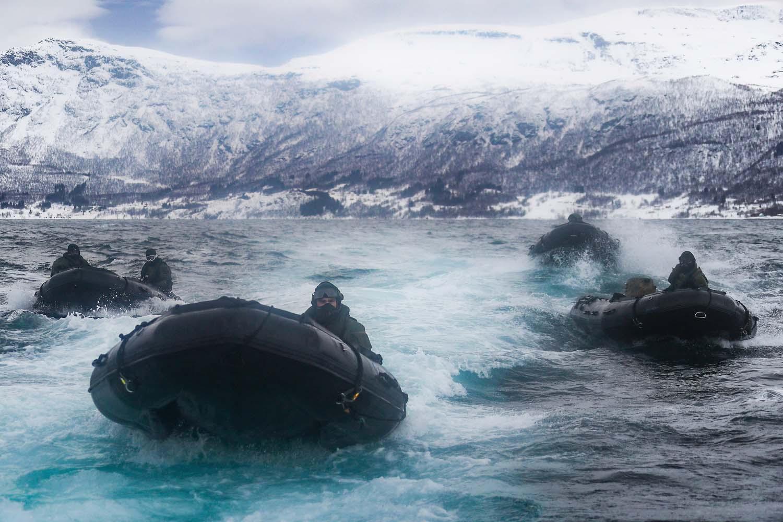 Royal Marines Hit Arctic Coastline on Commando Raids