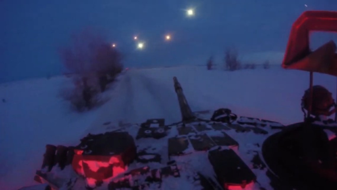 Russian Central Military District Night Live-fire Exercise in Urals