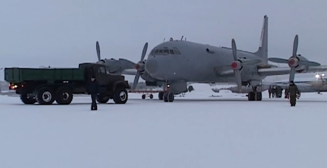 Russian Northern Fleet Il-38 Dolphin Anti-submarine Aircraft Training