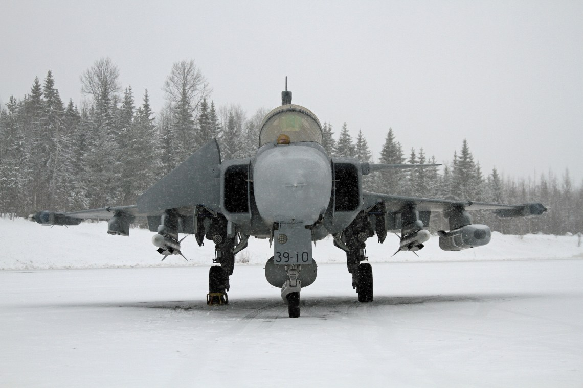 Saab JAS 39 Gripen E multirole fighter aircraft in Finland for the HX Challenge