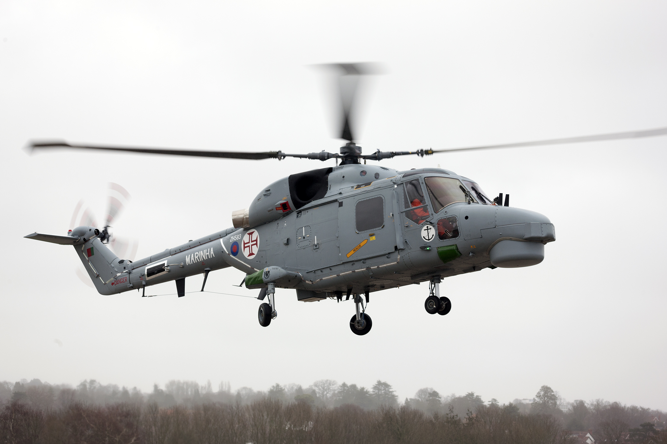 Portuguese Naval Aviation Modernised Super Lynx Mk 95A Shipborne Helicopter