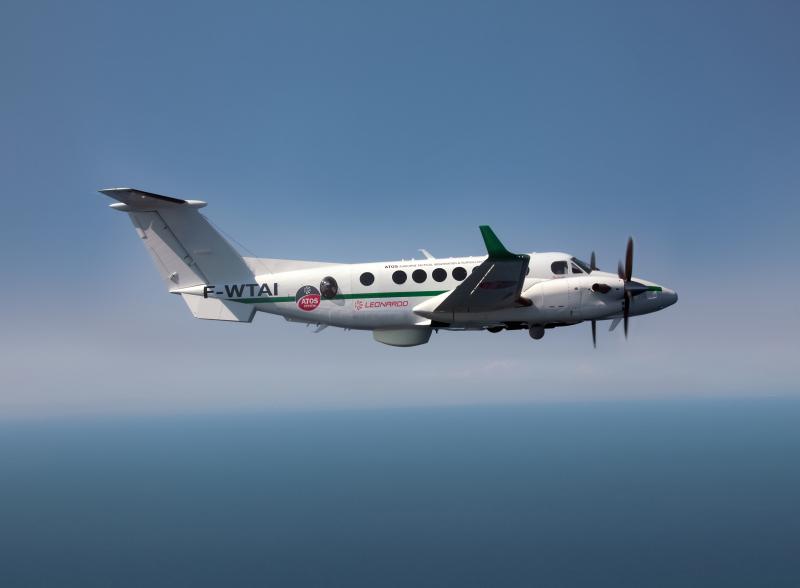 King Air 350ER Maritime Patrol Aircraft includes Leonardo's ATOS mission system